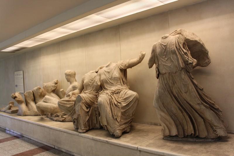 Obras encontradas em escavações, dentro do metrô