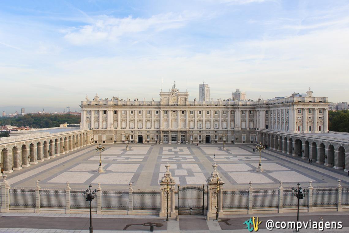 Palácio Real de Madri, vista do alto da Catedral
