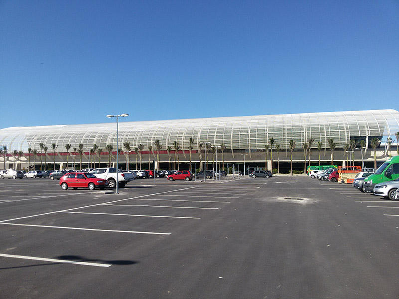 Fachada do novo aeroporto