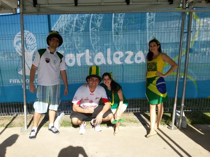 Com Fred, Leonardo e Marília: torcida pé quente!