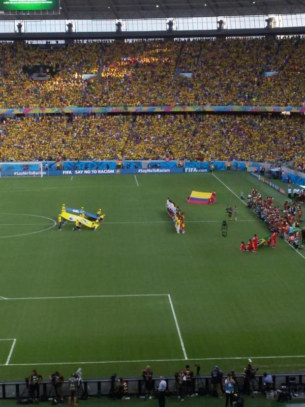 Momento do hino nacional