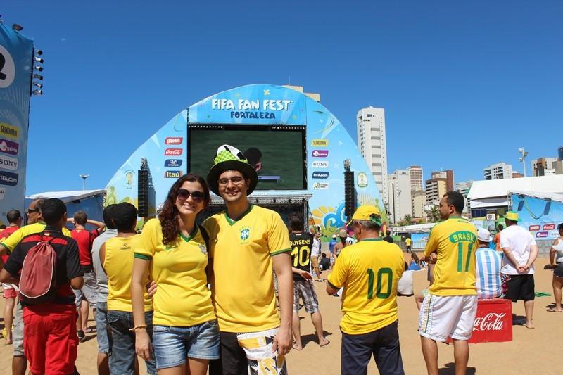 Na Fifa Fan Fest em Fortaleza