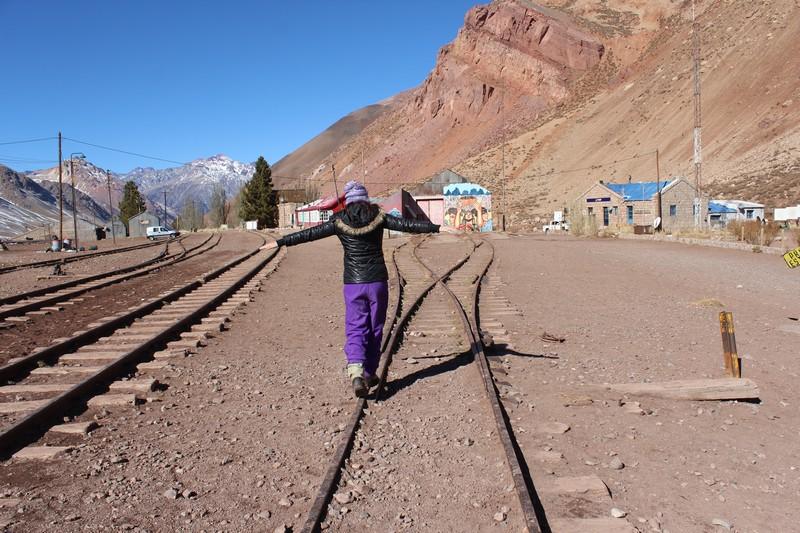 A antiga estação de trem