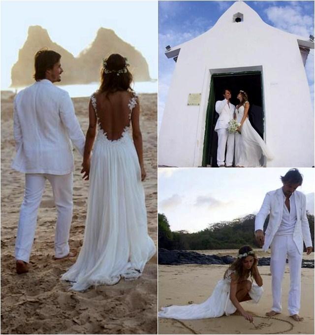 Casamento de Thaila Ayala e Paulinho Vilhena em Noronha
