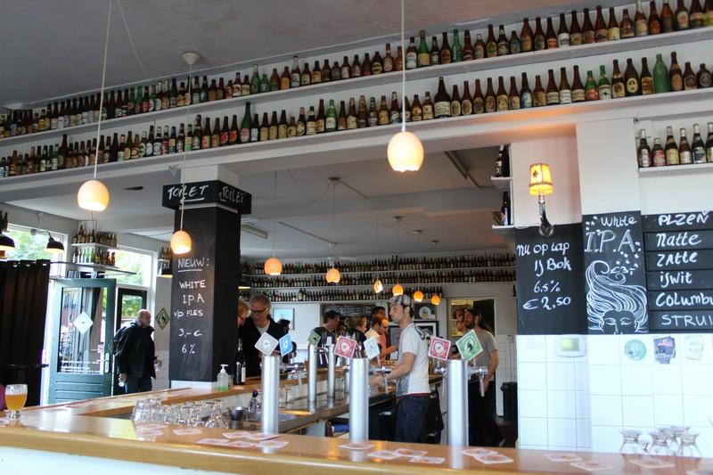 Espaço interno da cervejaria