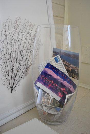 Ideia para guardar postais. Foto: Pinterest
