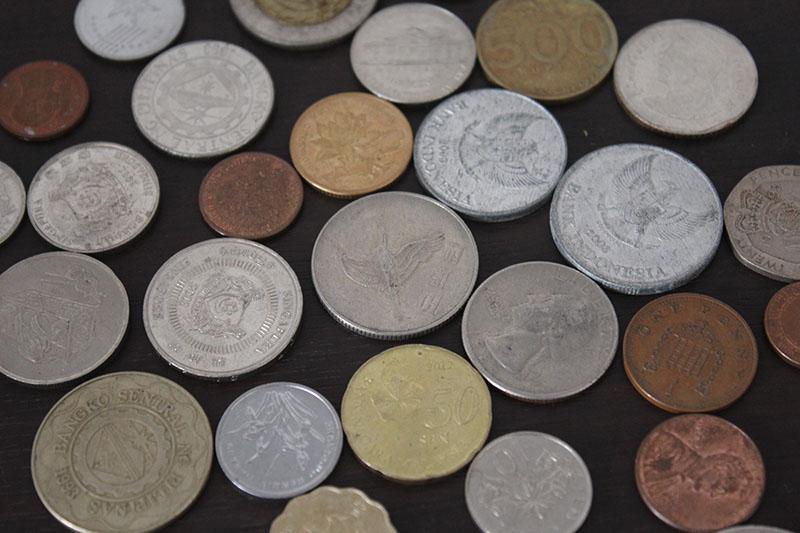 Parte da nossa coleção de moedas