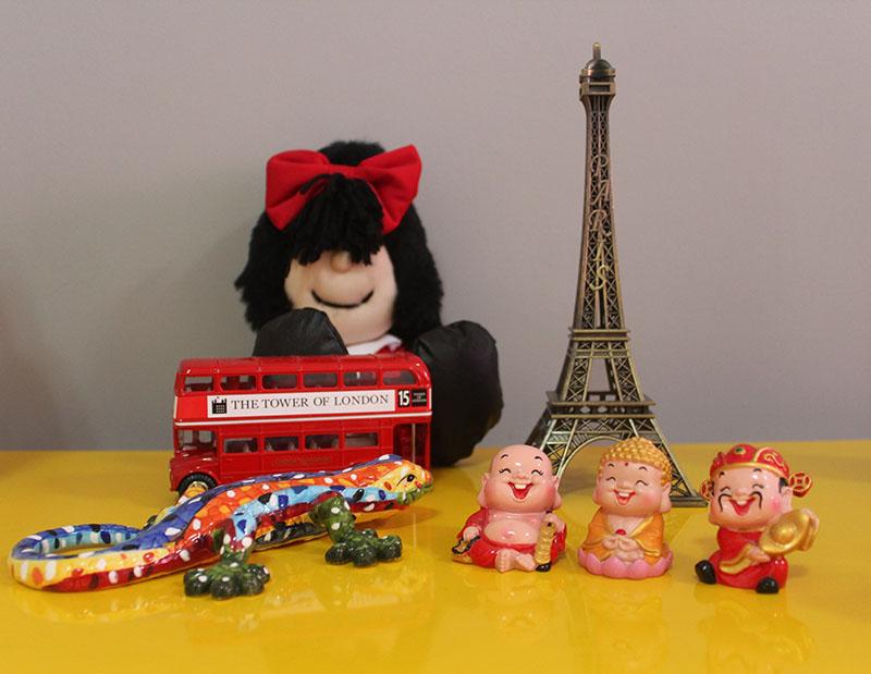 Nossa pequena coleção de souvenirs