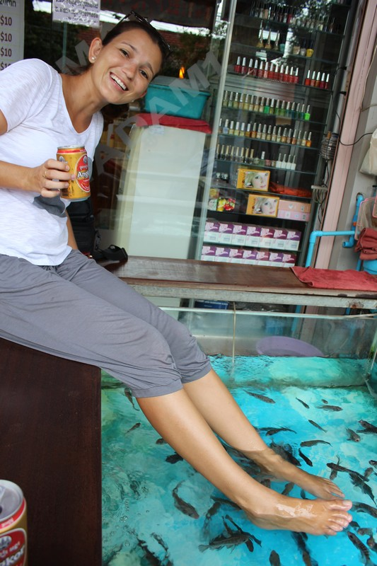 Fish Massage e cerveja por 1 dólar