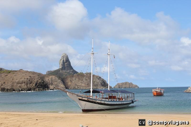 Praia do Porto de onde saem os passeios de barco