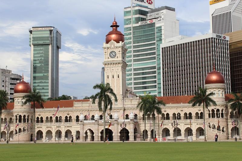 Sultan Abdul Samad Building, que fotografei do trem