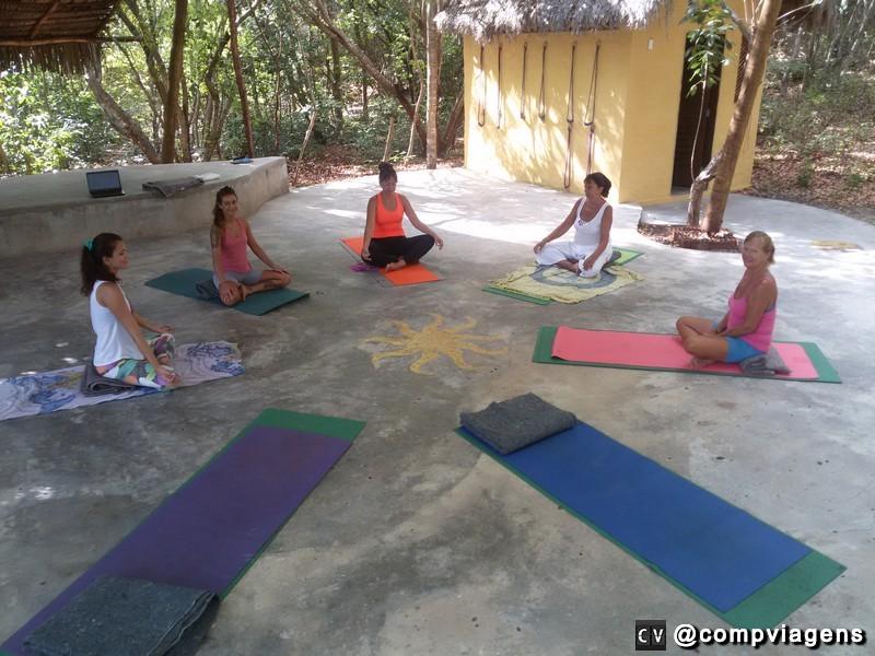 Sentirei muita falta das aulas de yoga ao ar livre