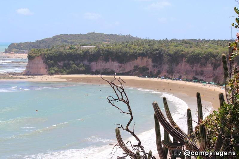 Praia do Madeiro vista do Santuário