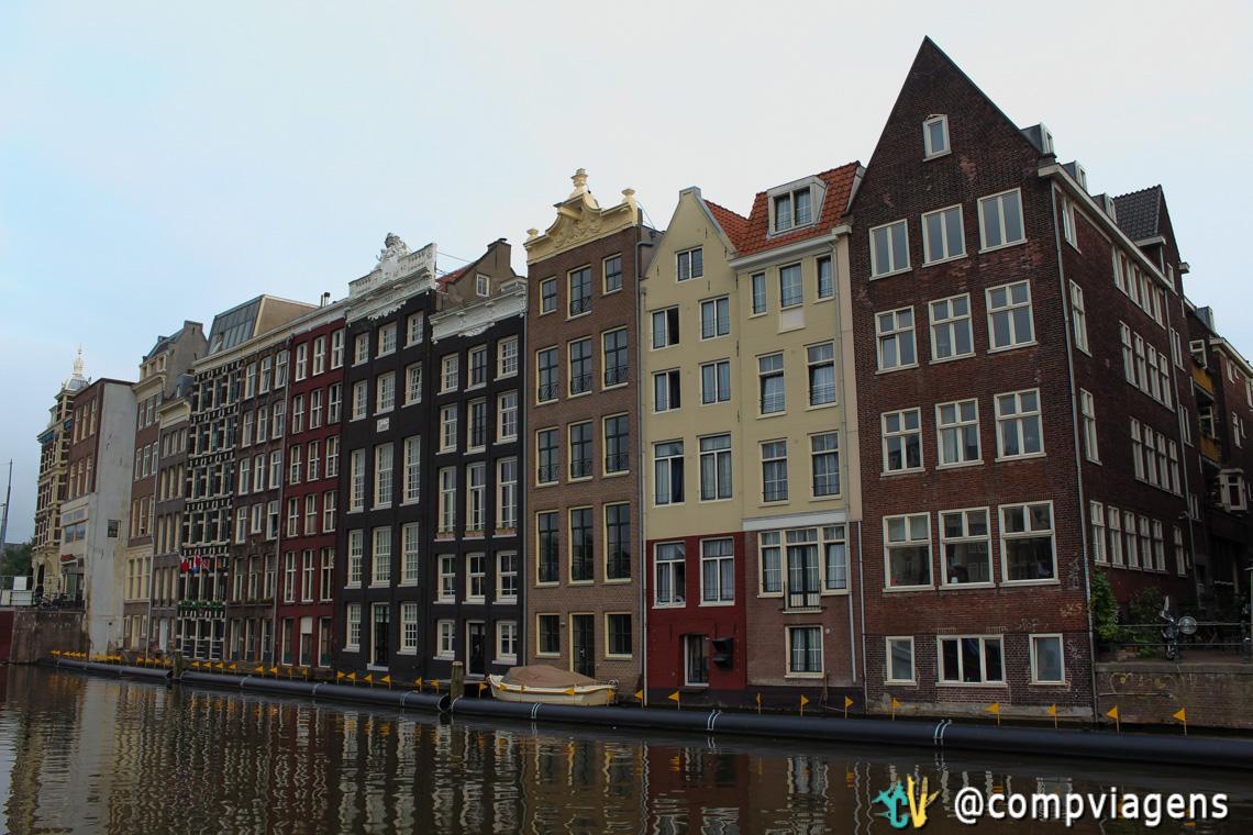 Amsterdã, vista do passeio de barco pelos canais