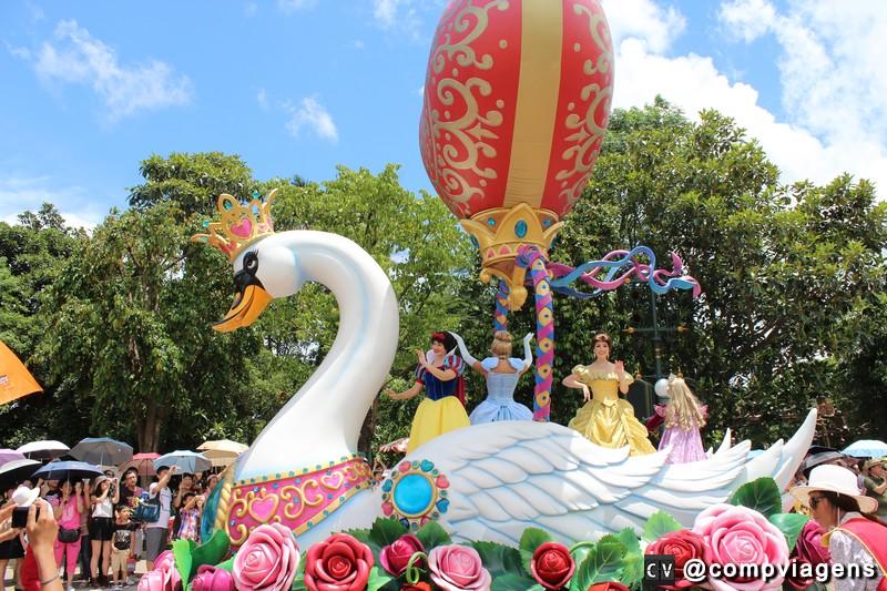 Princesas em um dos desfiles