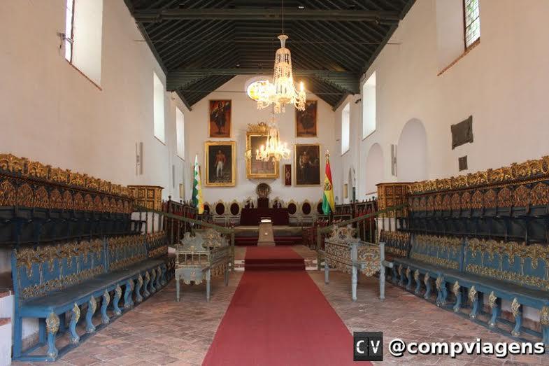 Casa de La Libertad: sala onde foi proclamada a República da Bolívia