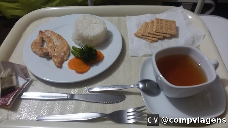 Nossa refeição na clínica