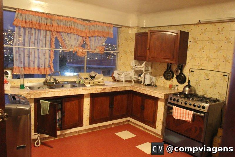 A cozinha está disponível para uso