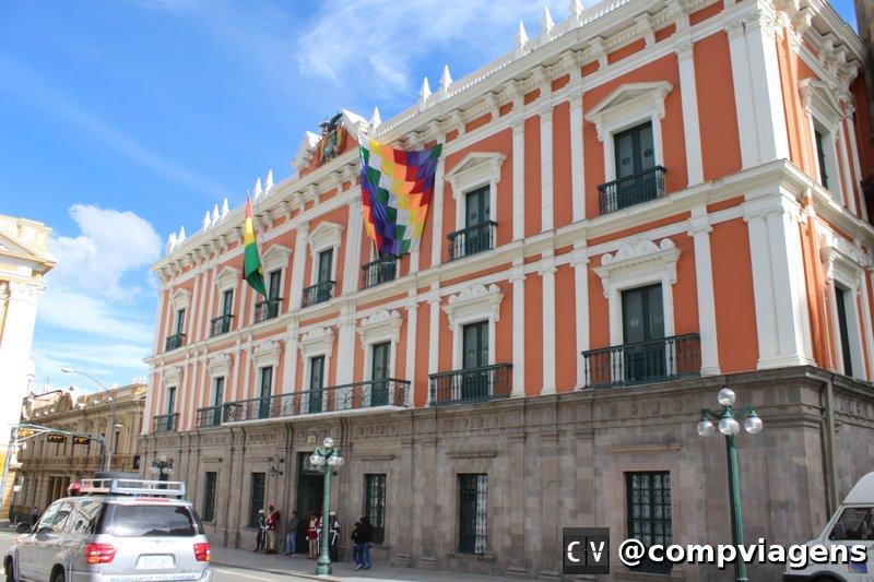 Palácio Quemado, na Plaza Murillo