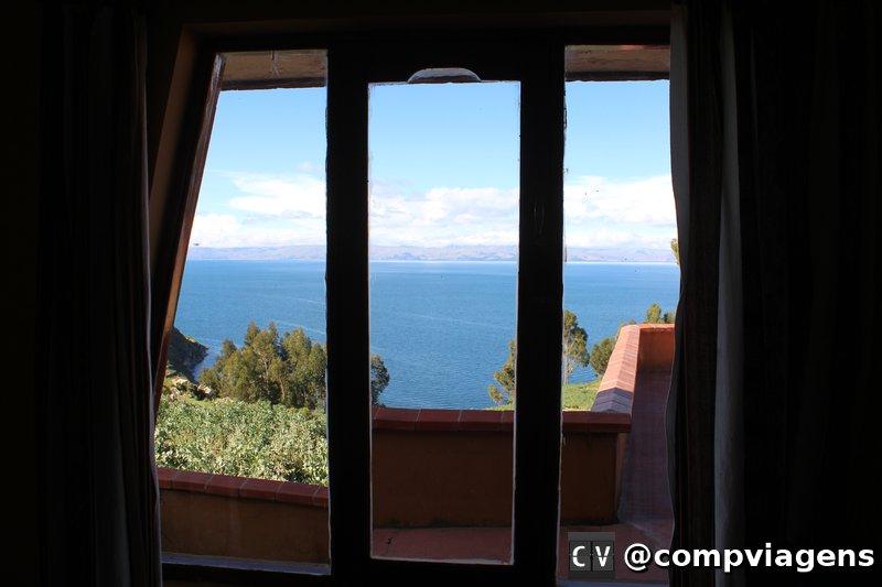 Vista da janela do nosso quarto no lado Sul da ilha
