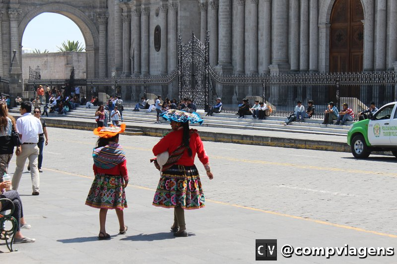 Cholitas no centro de Arequipa