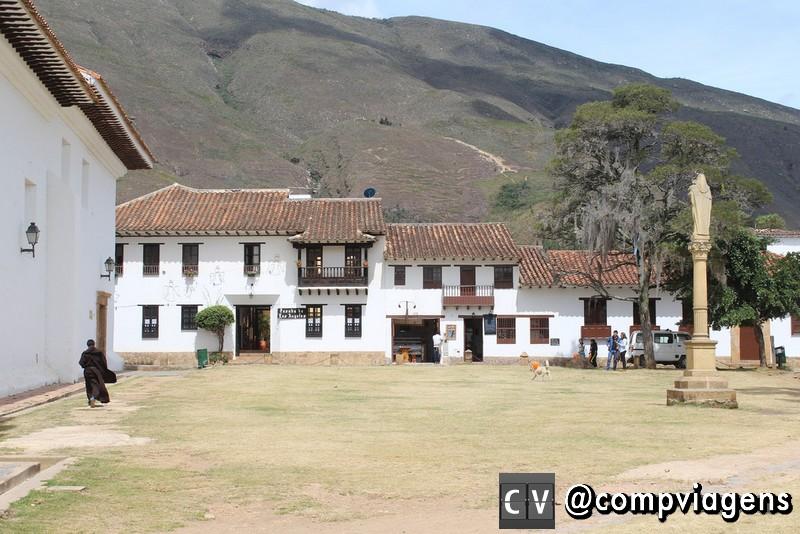 Uma das praças de Villa de Leyva