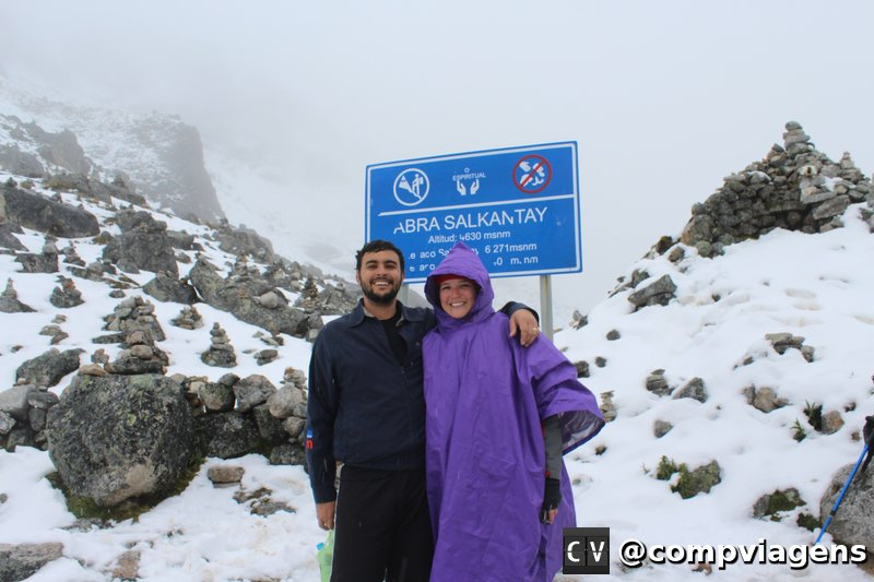 No ponto mais alto da trilha Salkantay