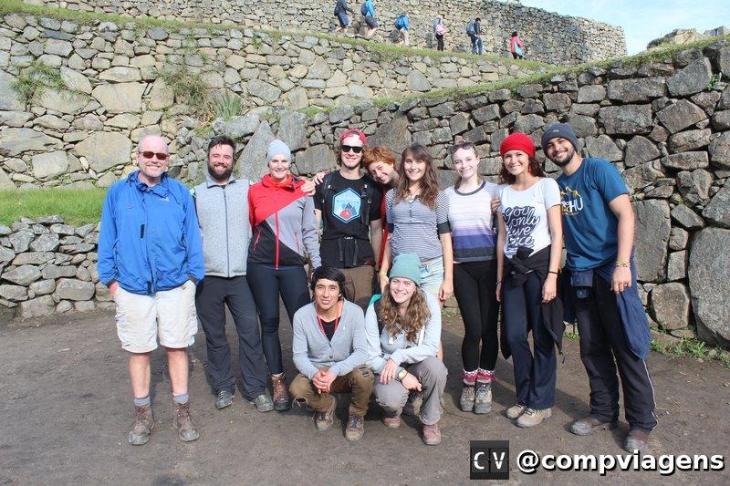 Nosso grupo em Machu Picchu