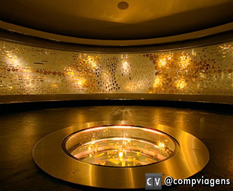 Sala de oferendas. Foto: site Museu do Ouro
