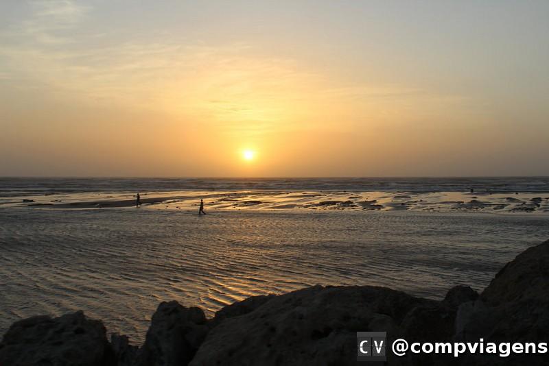 Pôr do Sol no mar de Barranquilla