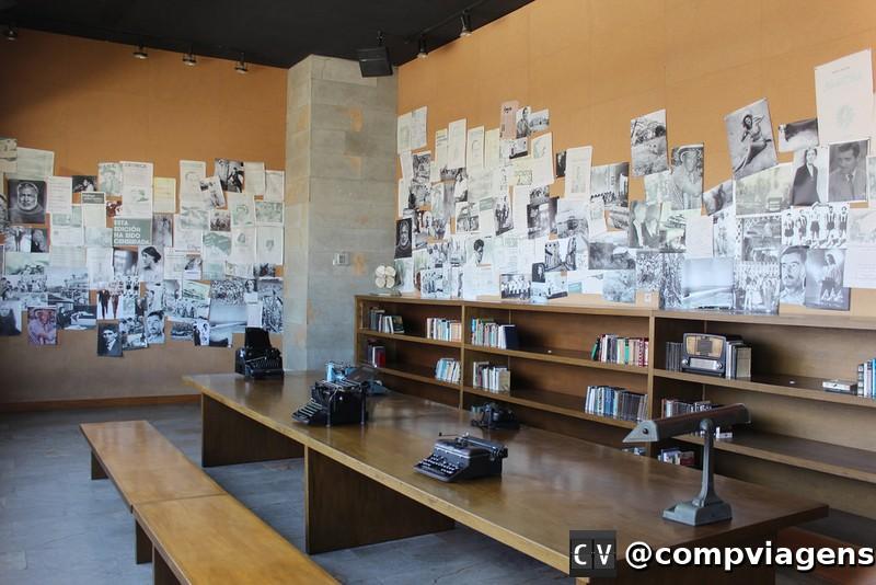 Sala dedicada a Gabriel Garcia Marquez no Museu do Caribe