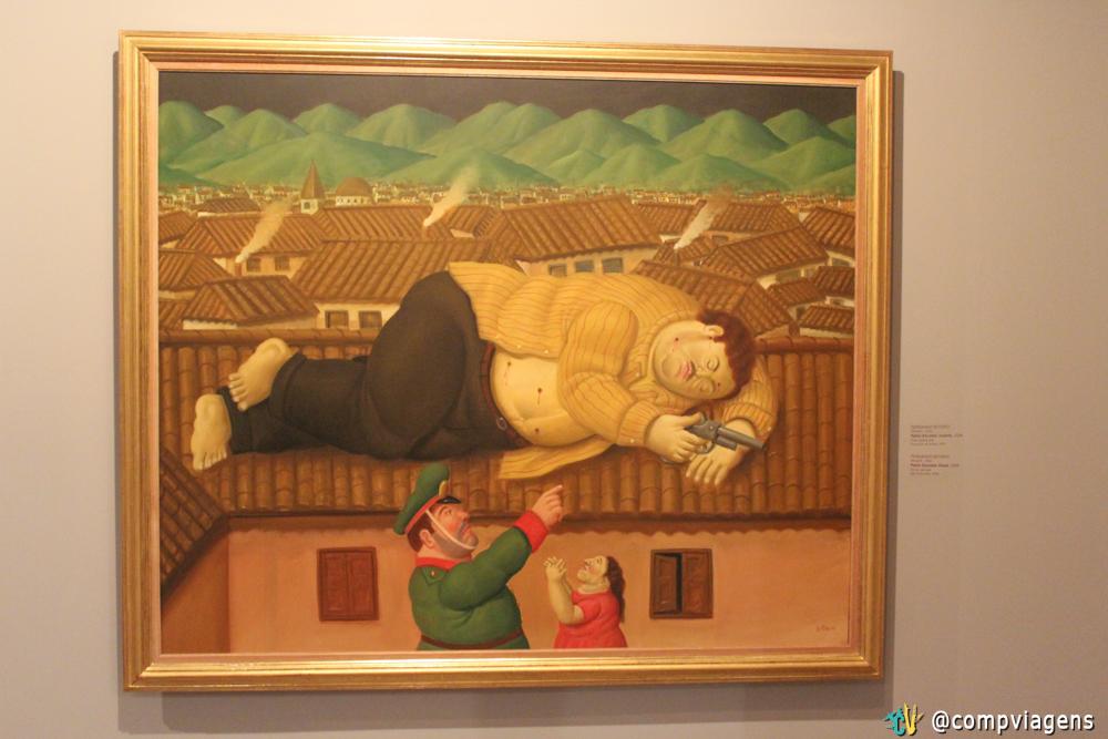 Quadro de Botero representando a morte de Pablo Escobar