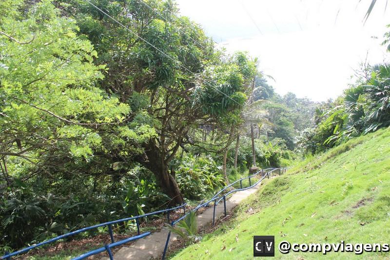 Escadas do lado panamenho