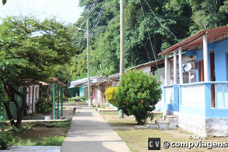 Vilarejo de La Miel, no Panamá