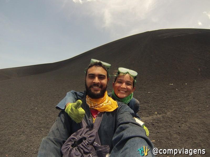 Vulcão em León, Nicarágua