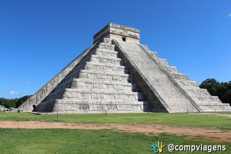 Pirâmide de Kukulcán, na cidade maia de Chichén Itzá.