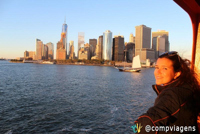 Passeio de barco gratuito para Staten Island com vista para Estátua da Liberdade