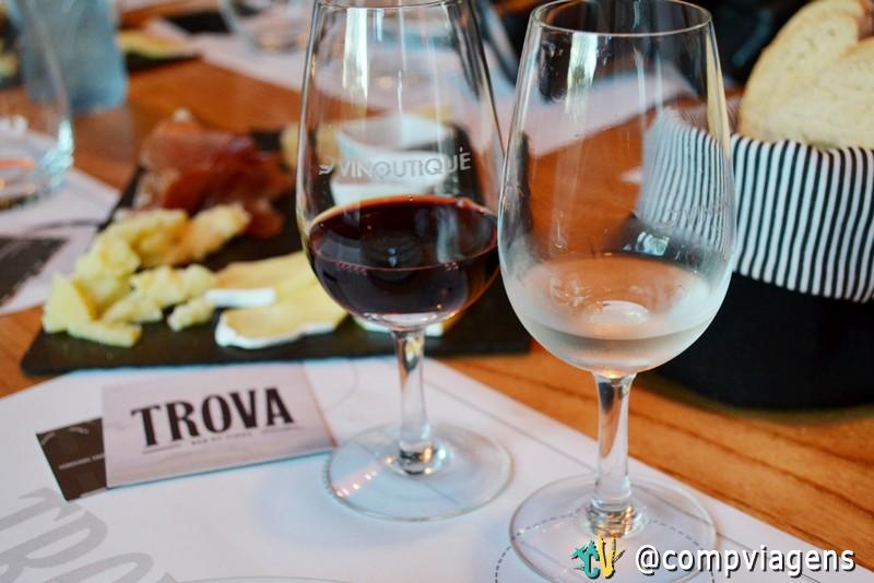 Degustação de vinhos na Trova