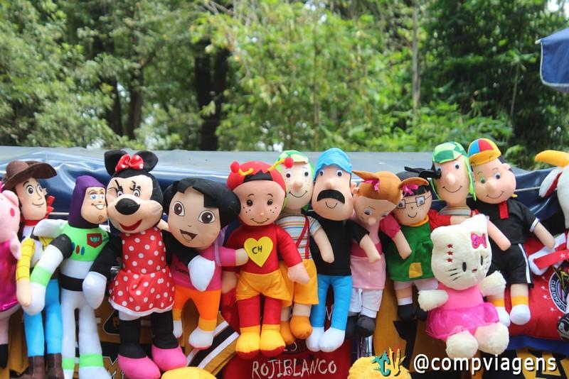 Nas barraquinhas do Bosque de Chapultepec