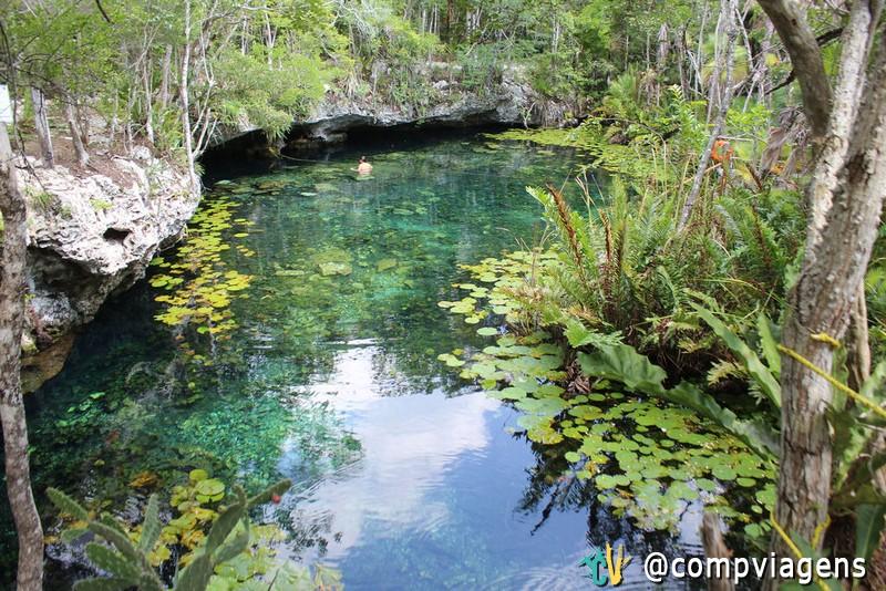 Cenote da zona de Dos Ojos