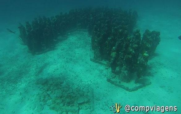 Museu subaquático de Isla Mujeres