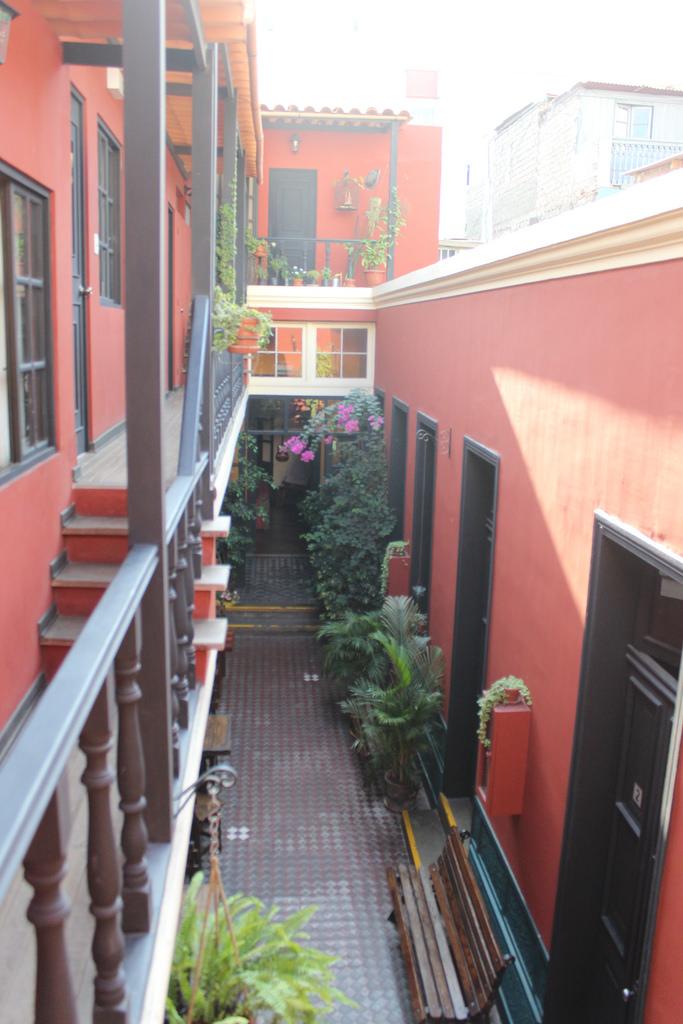 Pátio do hostel