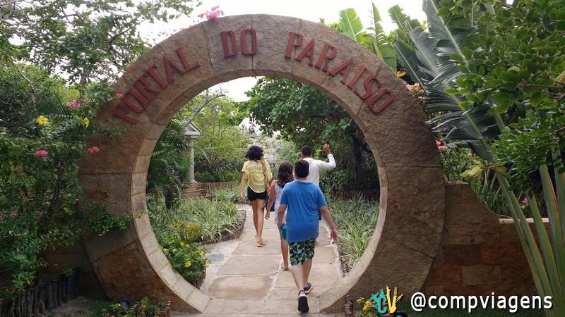 Entrada para a Lagoa do Paraíso