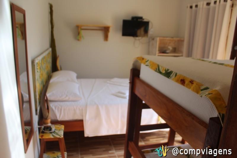 Nosso quarto na pousada Casa Strella