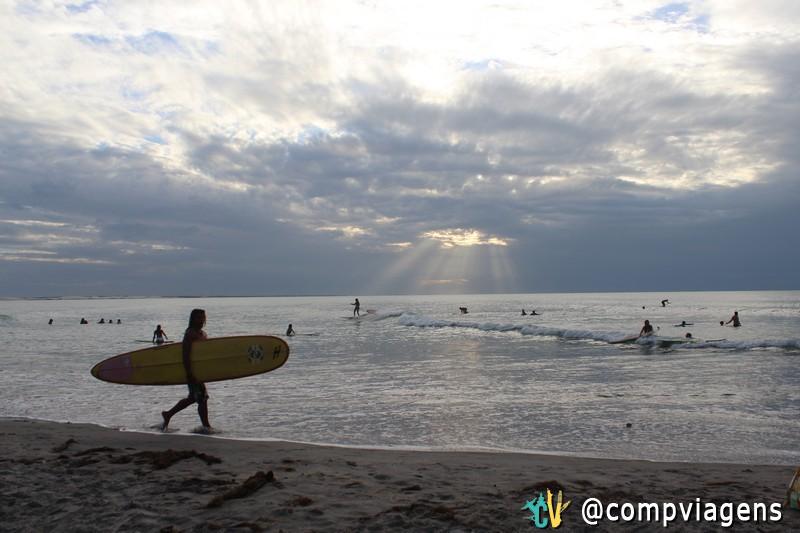 Fim de tarde nublado na praia de Jericoacoara