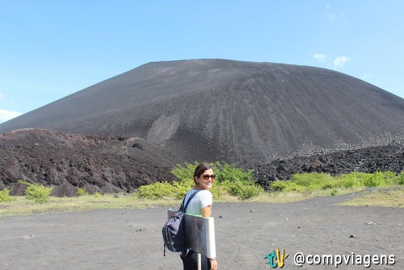 Nos preparativos para escalar o vulcão