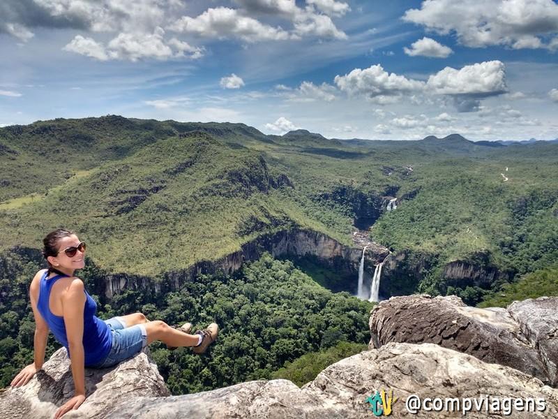 Vista para as cachoeiras dos Saltos