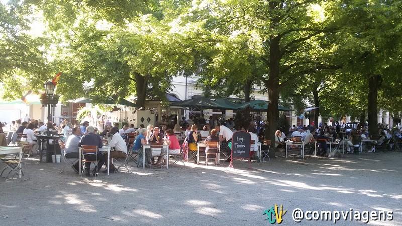 Biergarten, em Munique, Alemanha