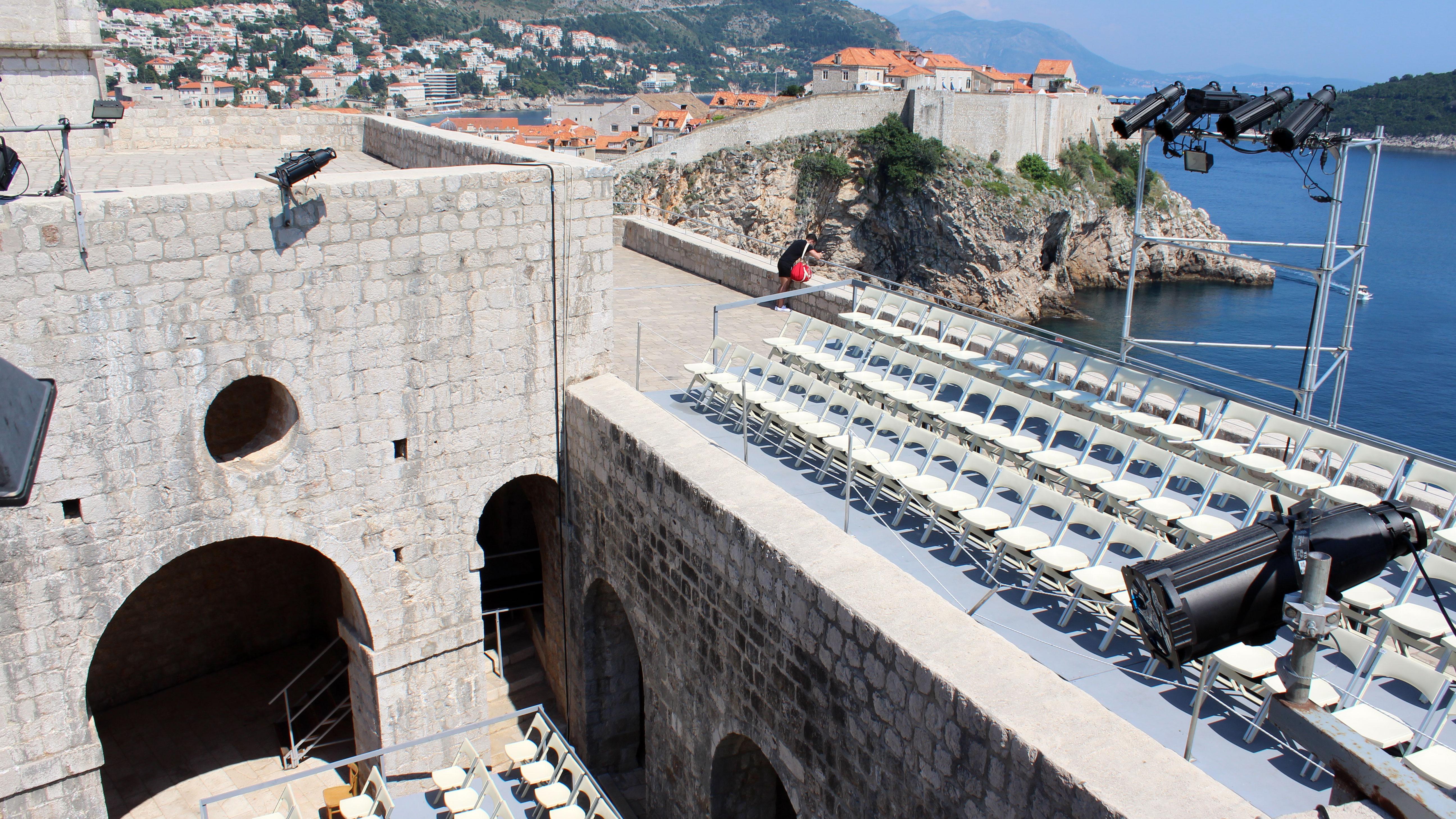 Várias cenas foram gravadas neste Forte. Neste ângulo foi gravada uma cena de luta.