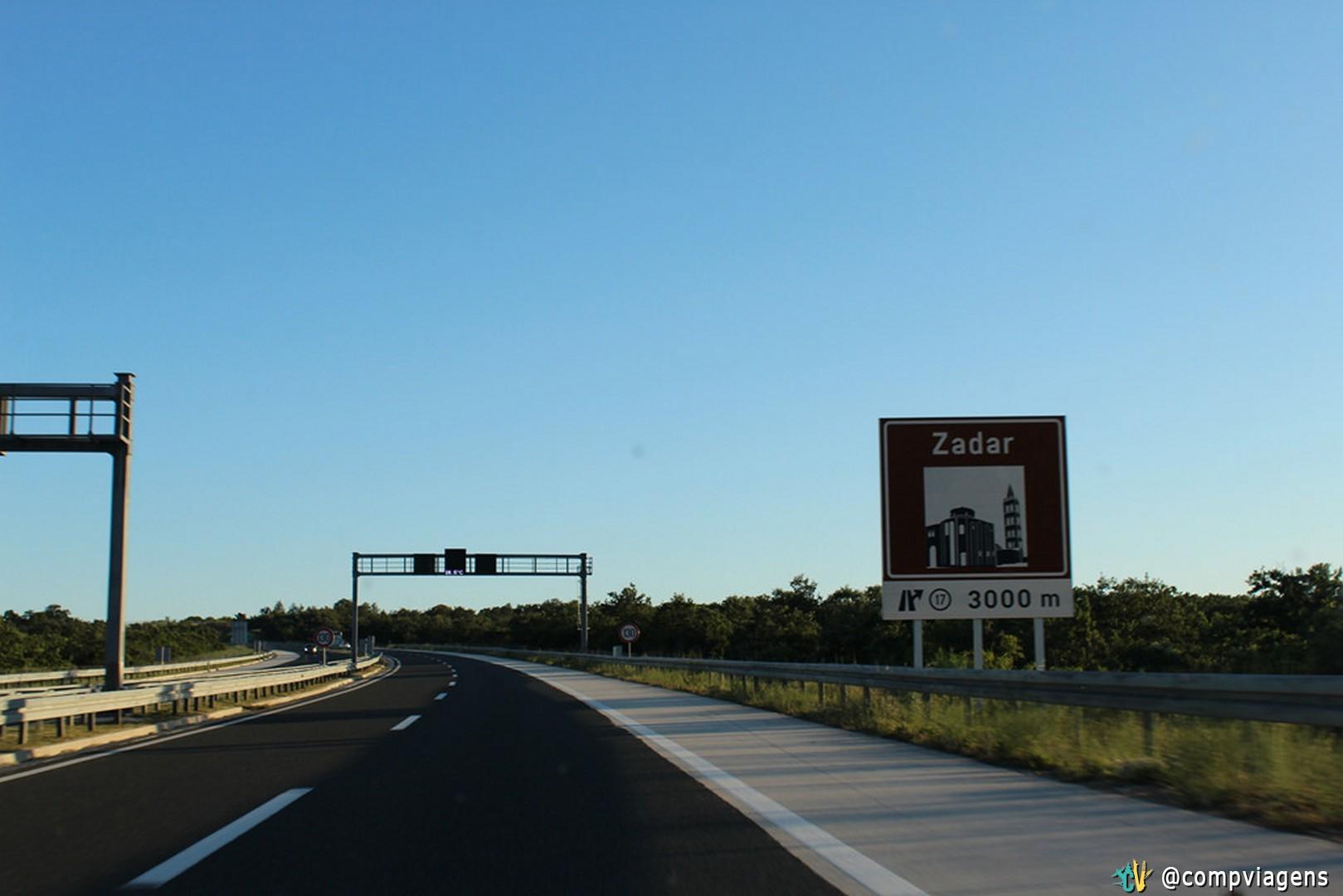 As rodovias da Croácia são de ótima qualidade